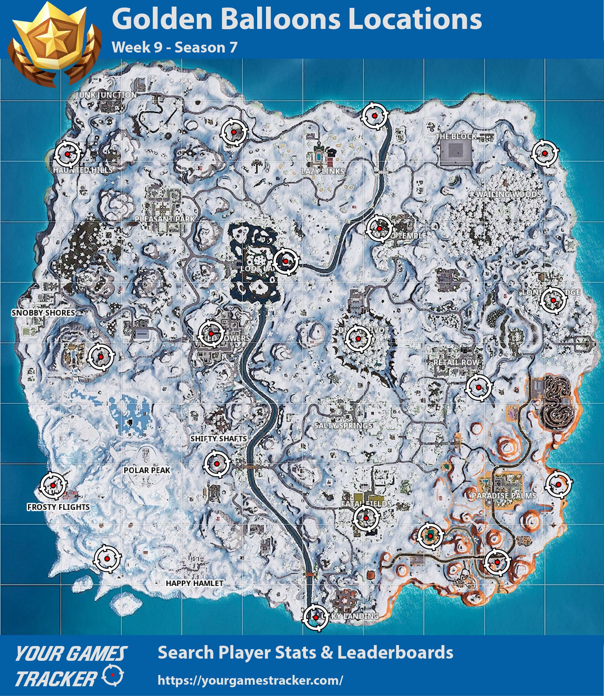 fortnite battle royale localização dos balões dourados semana 9 passe de batalha