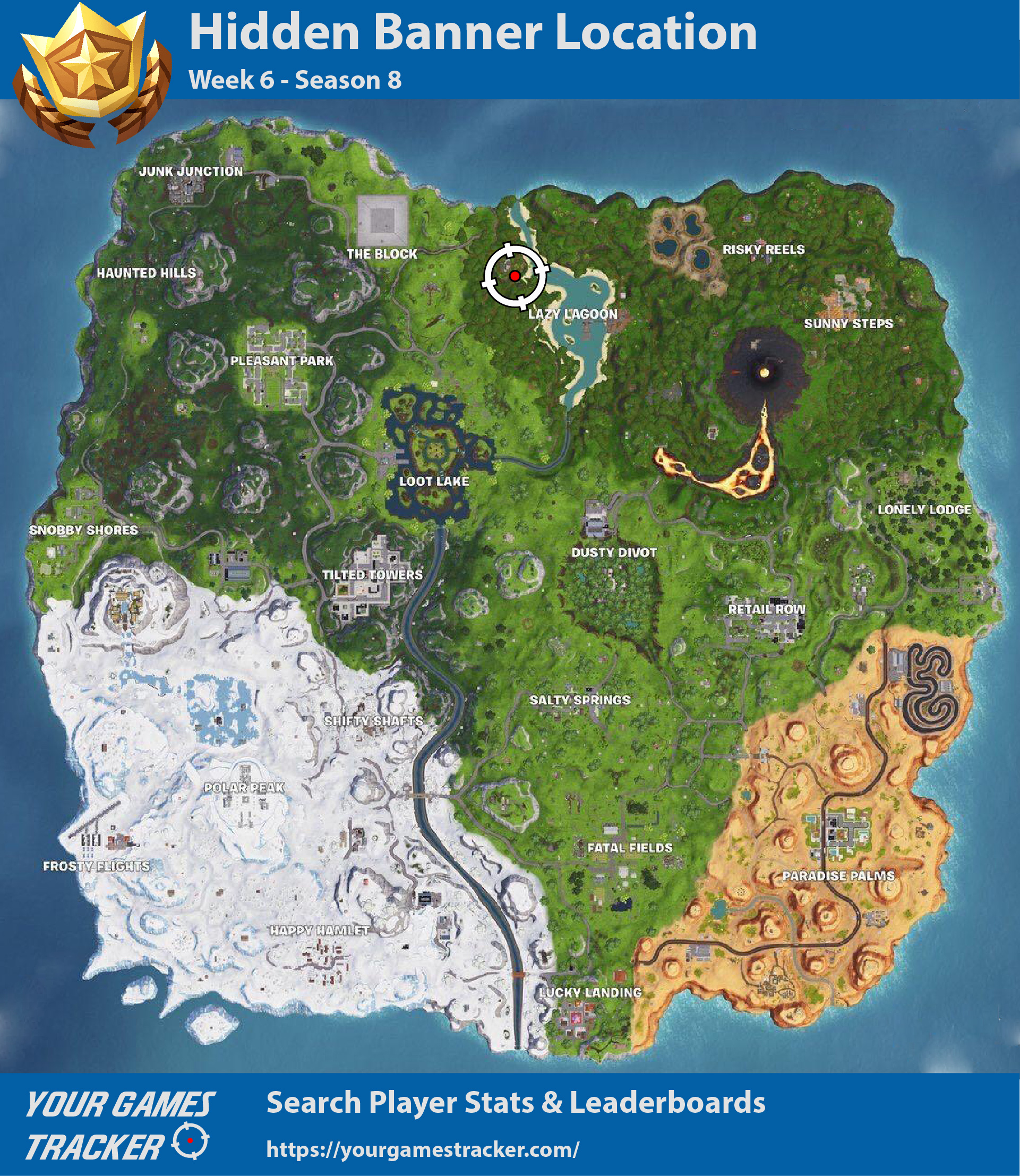 Hidden Banner Location Fortnite - Week 6 Season 8