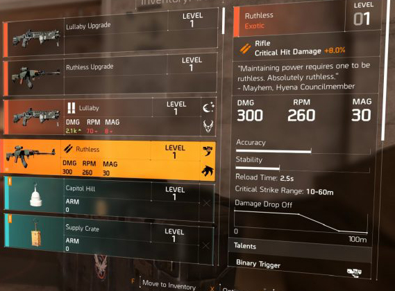 Division 2 Exotics List and How to Get Them - Your Games Tracker