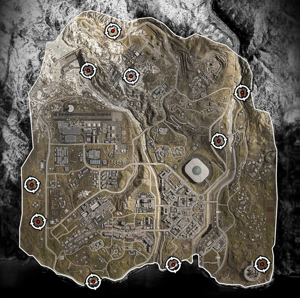 Mapa Bunkers COD Warzone