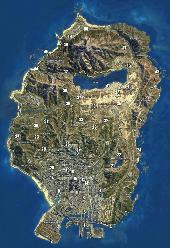 gta v 5 spaceship parts location map